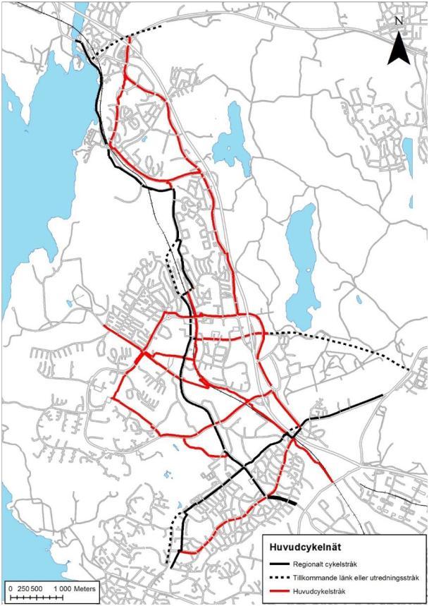 Huvudcykelnät i Järfälla