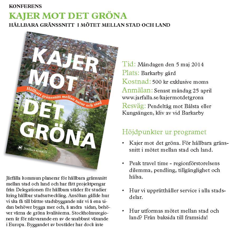"""Omslagsbild från boken """"Kajer mot det gröna"""""""