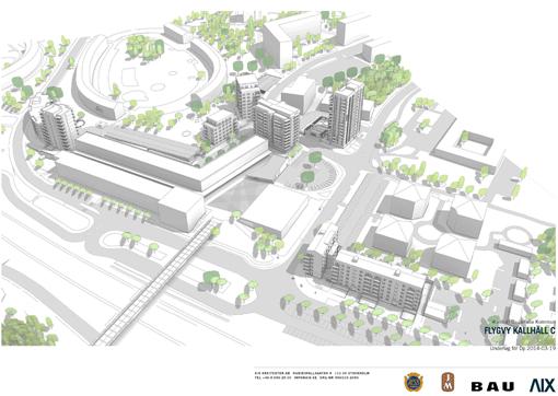 Översiktsbild nya Kallhäll centrum