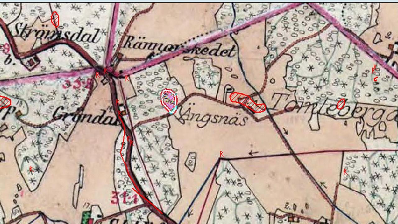 Karta 1800 Tal Stora Angsnas