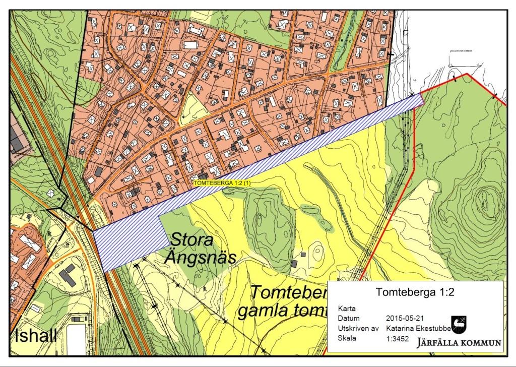 Karta området kring transformatorstation