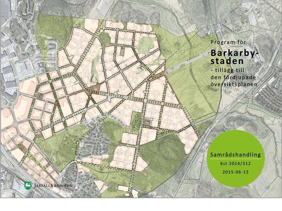 Program för Barkarbystaden - Tillägg