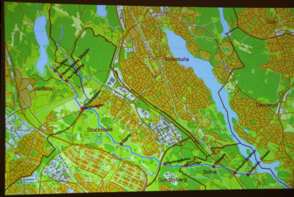 Översiktskarta Igelbäcken (Järfälla kommun)