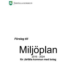 Miljöplan 2016 - 2024