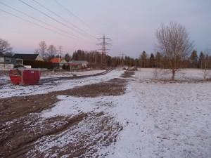 Nedgrävning kraftledning slutresultat