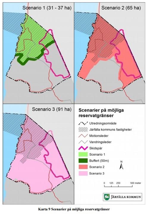 Möljliga alternativ till naturreservat Ängsjö