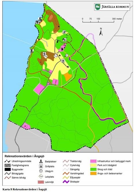 Rekreationsvärden i Ängsjö